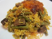 Estamboli Polo (Green Bean Rice)